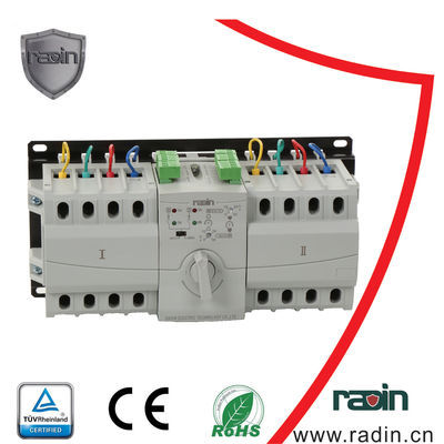 China 6A-63A Electric Transfer Switch Manual , Manual Electric Transfer Switch For Generator supplier