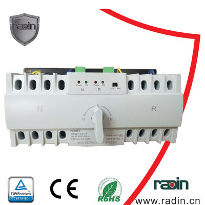 China Static Generator Power Switch AC 150-265V 0.2s Fixed Dual Power MCB Inside supplier
