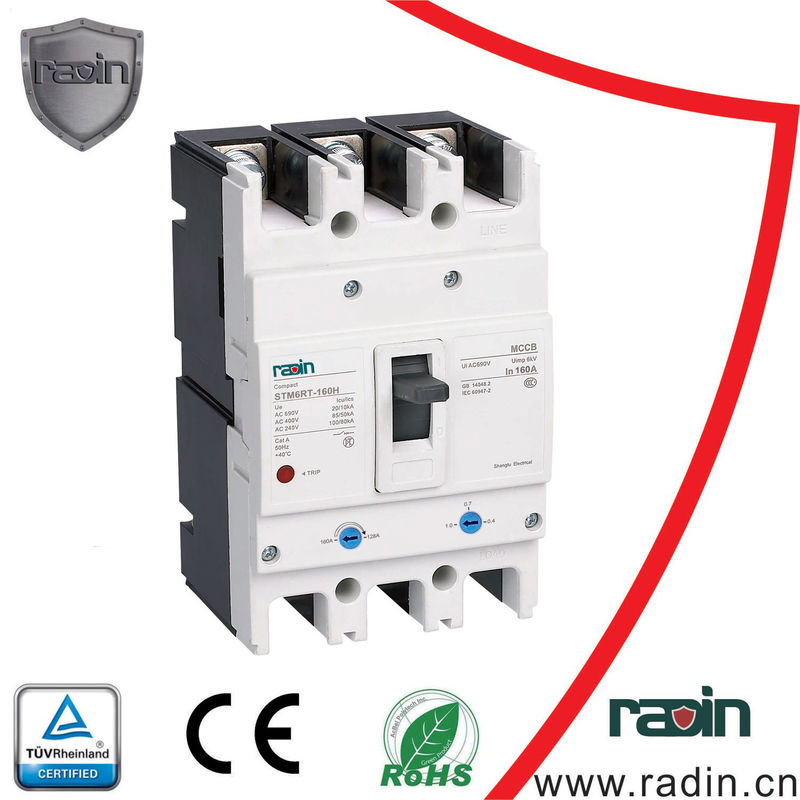 Short Circuit Current Adjustable Mccb Rccb With Plug In